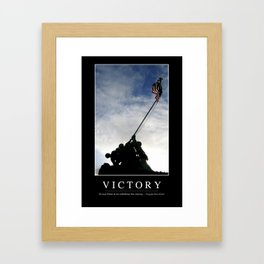 Victory: Inspirational Quote and Motivational Poster Framed Art Print
