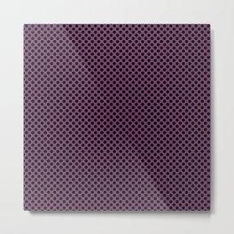 Wood Violet and Black Polka Dots Metal Print