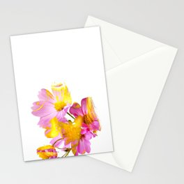 New Mixed Era -  Purple Faced Flower Stationery Cards