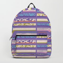 Textured Stripes Bright Hand Drawn Marks Backpack