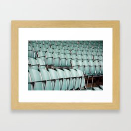 Chairs & bleachers Framed Art Print