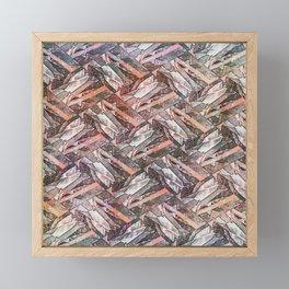 Feather Fashion Pattern  Framed Mini Art Print
