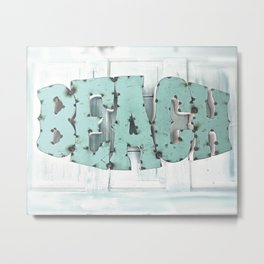 Rustic Beach Metal Print