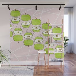 Apple Halves Wall Mural