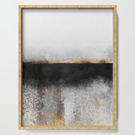 Soot And Gold Serving Tray