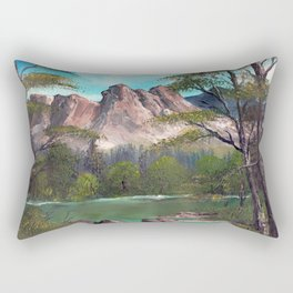 Mountains in Summer Rectangular Pillow