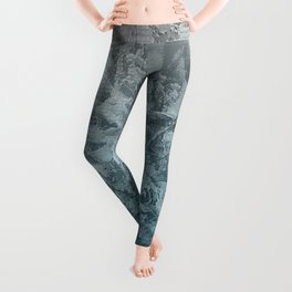 Abstract blue painting Leggings
