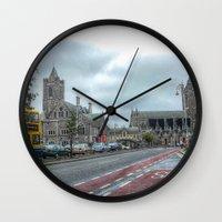 dublin Wall Clocks featuring Dublin by Christine Workman