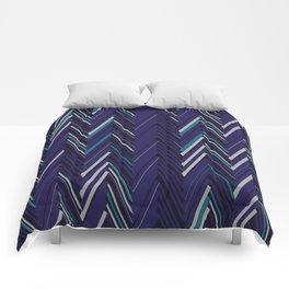 Abstract Chevron Comforters