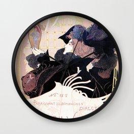 1899 Art nouveau auction journal ad Wall Clock
