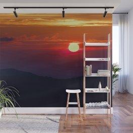 Great Smoky Mountain Sunset Wall Mural