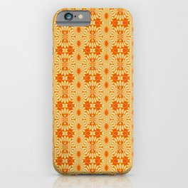 Mid Mod Lemon Slices and Orange Juice Pattern iPhone Case