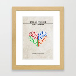 Eternal Sunshine of the Spotless Mind Alternate and Minimalist Poster Framed Art Print