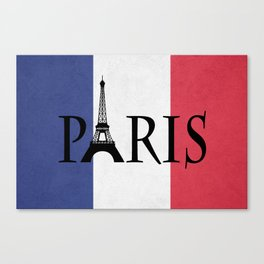 Grunge Paris Canvas Print