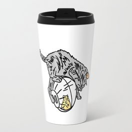 Kitten On Hamster Ball Travel Mug