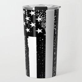 Trump 2020 American Flag Vintage Tee Travel Mug