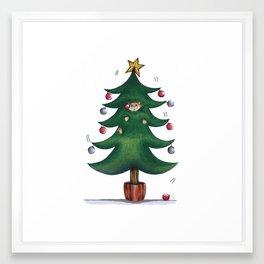 Purrfect Christmas Framed Art Print