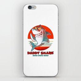 Doo Doo Doo Vintage Daddy Shark iPhone Skin