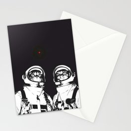 astronaut cats Stationery Cards