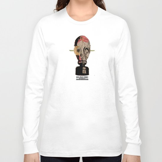 Eat more beef! Gas Mask Collage Long Sleeve T-shirt