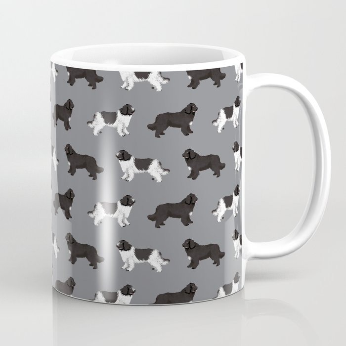 Newfoundland dog breed custom pet portrait by pet friendly dog lover must have gifts Coffee Mug