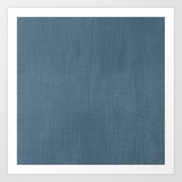 Blue Indigo Denim Art Print