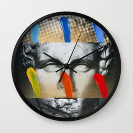 Composition On Panel 17 Wall Clock