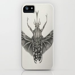 Goliath Beetle Pencil Drawing  iPhone Case