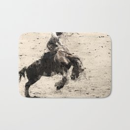 Hanging On - Bronco Busting Champ Bath Mat