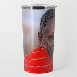 African Maasai Elder Travel Mug