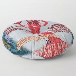 Lobster Girl Floor Pillow