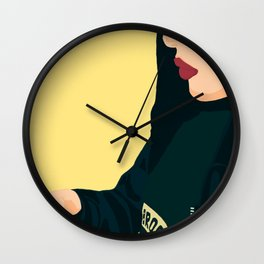 on the phone Wall Clock