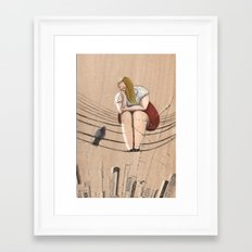 On a wire Framed Art Print