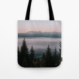 Faraway Mountains - Landscape and Nature Photography Tote Bag