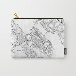 Halifax Map, Canada - Black and White Carry-All Pouch