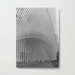 Oculus Streets | New York City, Black and White Film Photography Metal Print