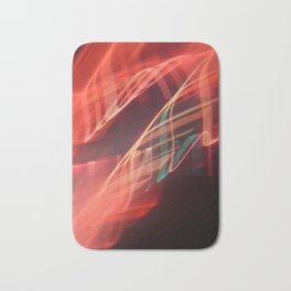 Energetic abstract light Bath Mat