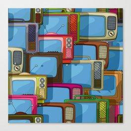 Tv set pattern Canvas Print