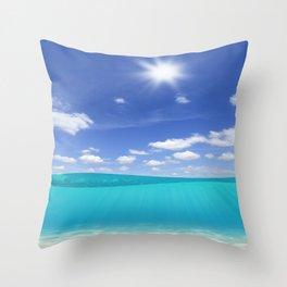 Sunny Sea Throw Pillow