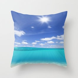Sunny Sea Throw Pillow