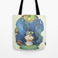 over the garden wall Tote Bags featuring Over the Garden Wall by zaMp