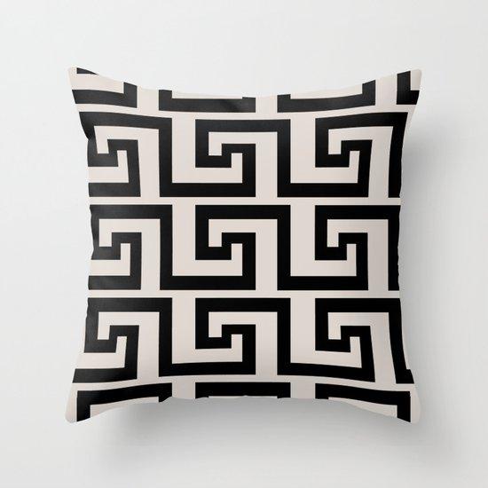 Greek Key Throw Pillow