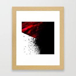 blacknwhitenredallover Framed Art Print