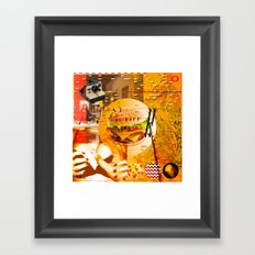 Never In A Million Years < The NO Series (Orange) Framed Art Print