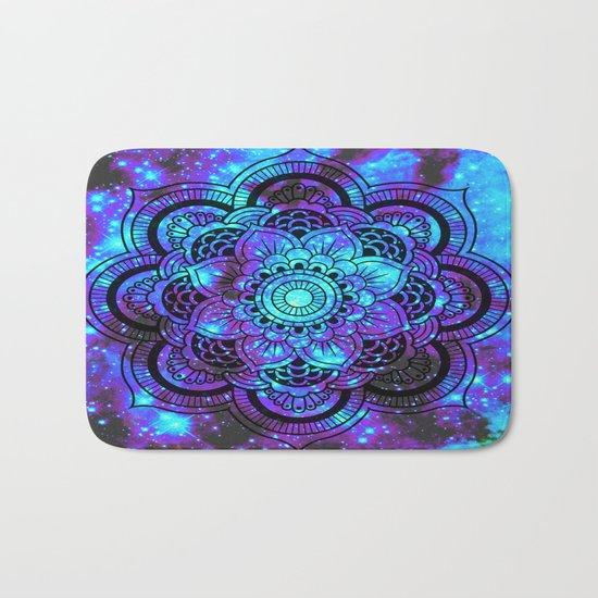 Mandala : Bright Violet & Teal Galaxy 2 Bath Mat