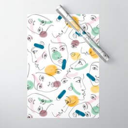 Female Portraits #society6 #figurative Wrapping Paper