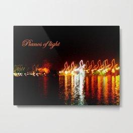 Pianos of light Metal Print