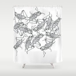 Grasshoppers Shower Curtain