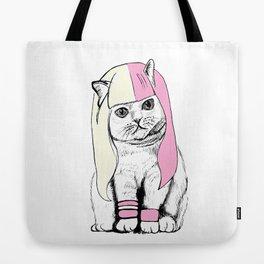 Cat wig Tote Bag