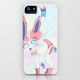 Sylveon in Pastel Space iPhone Case